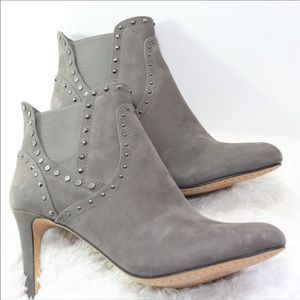 Vince Camuto Gray Studded Booties